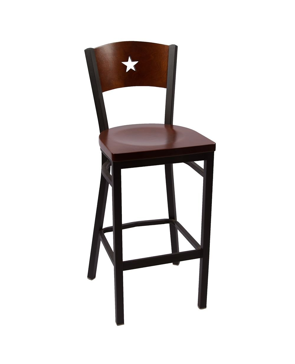 Liberty Series Indoor Metal Restaurant Barstool : LibertyBarstoolWalnut from www.seatingconnection.com size 1000 x 1235 jpeg 51kB