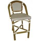 AAA Furniture LM Armless Rattan Indoor/Outdoor Restaurant Bar Stools