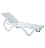 Aqua Resin Pool Chaise Lounge