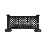 Black 3-panel fence