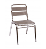 BFM Seating Resturant Aluminum Stacking Side Chair