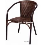 MS11CBBL BFM Seating Marina Wicker Stackable Arm Chairs Ships From Philadelphia, PA 19124