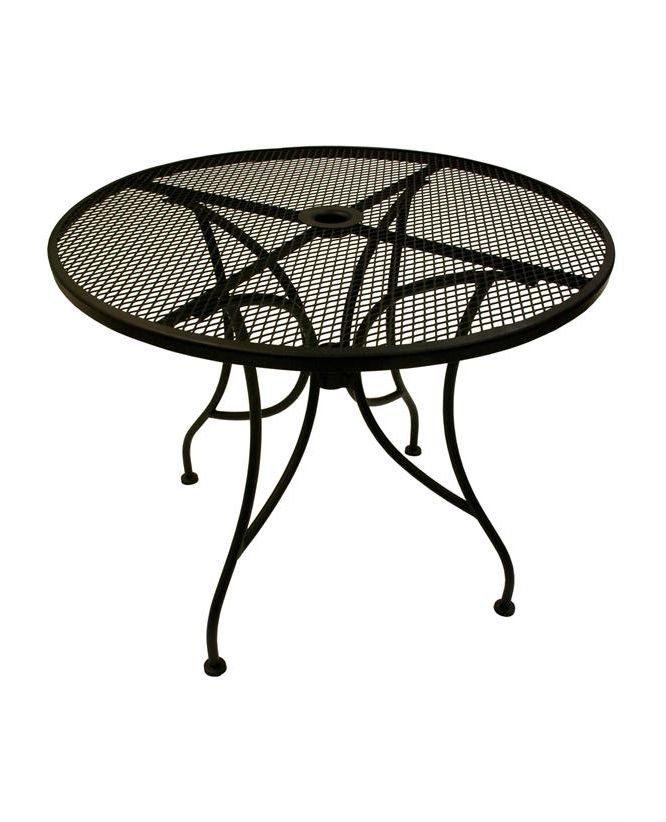 Beautiful Alm Outdoor Patio Round Mesh Table