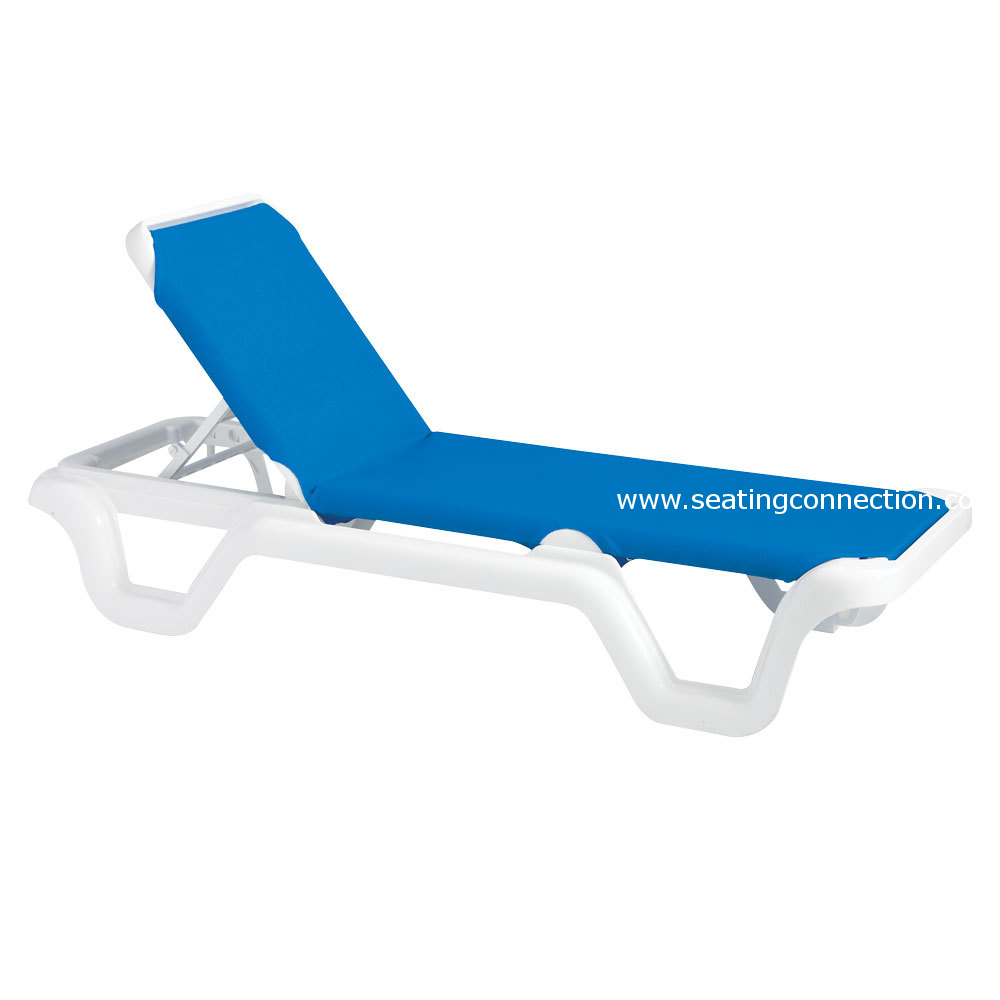 set of 2 grosfillex outdoor marina adjustable sling chaise w