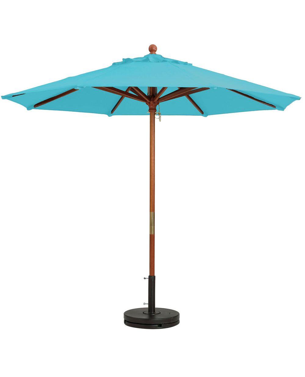 Grosfillex Wooden Market Umbrellas