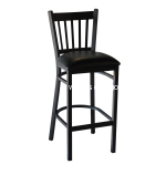 Cobra Barstool; Black Metal Frame with Black Vinyl Seat
