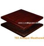 Antique Weathered Wood Grain Veneer Indoor Table Tops