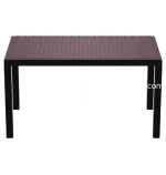 "Brown Orlando Wickerlook 55"" Rectangle Patio Dining Table"
