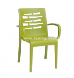 Essenza Fern Green Stacking Arm Chair