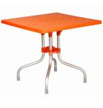 Orange Forza Square Folding Table by Compamia