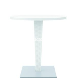 "White Riva Wickerlook Resin 28"" Round Dining Table"