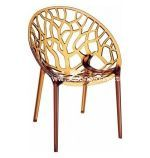 Crystal Polycarbonate Indoor Outdoor Modern Dining Chair