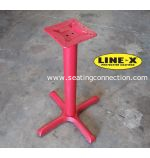 Line X Coated Outdoor Indoor Cast Iron Commercial & Restaurant Table Bases