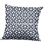 Luxe Indigo Canvas Throw Pillow