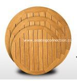 TK-TP-RD Florida Seating Teak Wood Tops Round