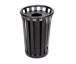 Outdoor Patio Restaurant Hotel Trash Receptacles Garbage Cans