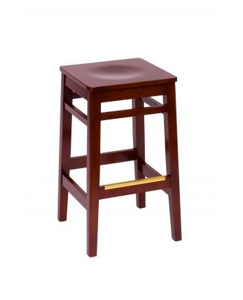 Wood Trevor Backless Restaurant Bar Stools
