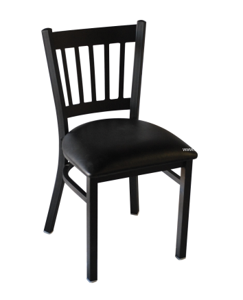 Black Frame with Black Vinyl Seat