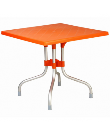 Orange Forza Square Folding Table by Compamia